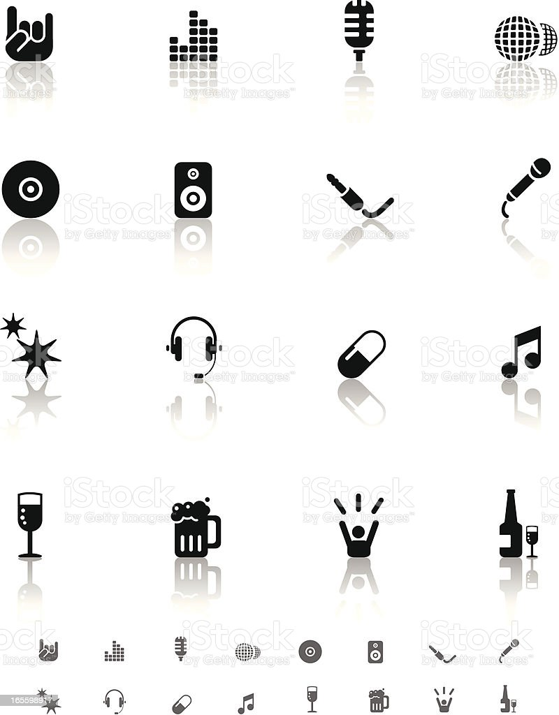 Party icon set vector art illustration