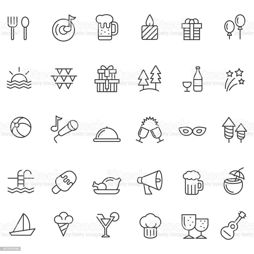 Icono de conjunto - ilustración de arte vectorial