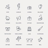 Party Icons - Line Series