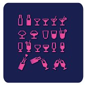 Party icons (Vector).