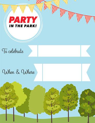Party In The Park e-Invitation Template
