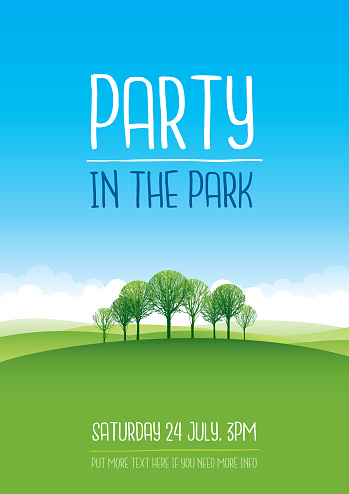 Party in the park poster