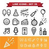 Party ine icons set 39