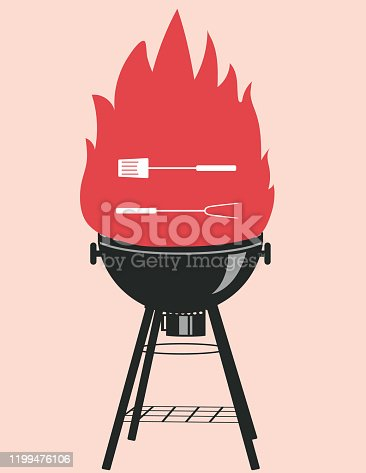 istock BBQ party Invitation Template 1199476106