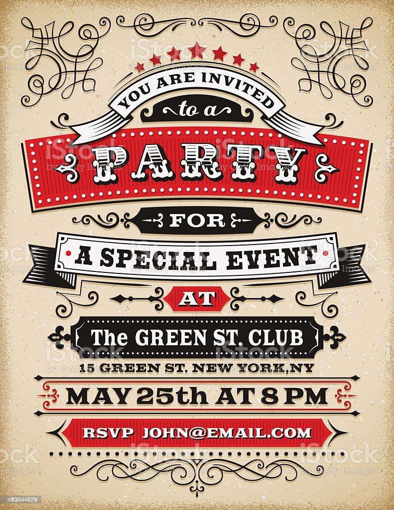 Party Invitation vector art illustration