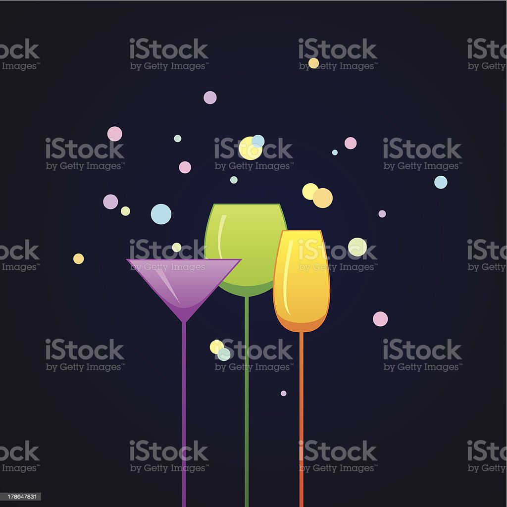 Party invitation with glasses royalty-free stock vector art
