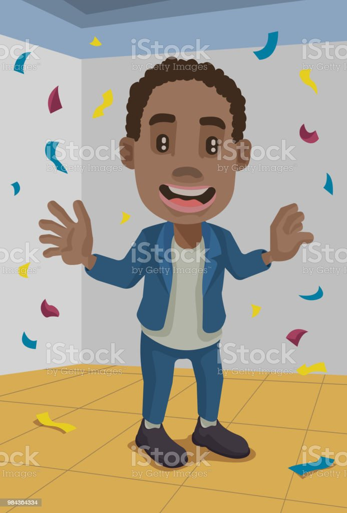 Party Kiddo vector art illustration