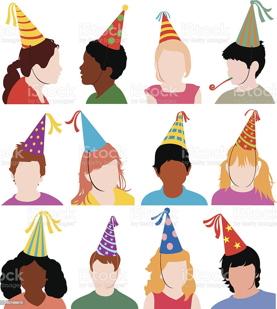 Party Kids vector art illustration