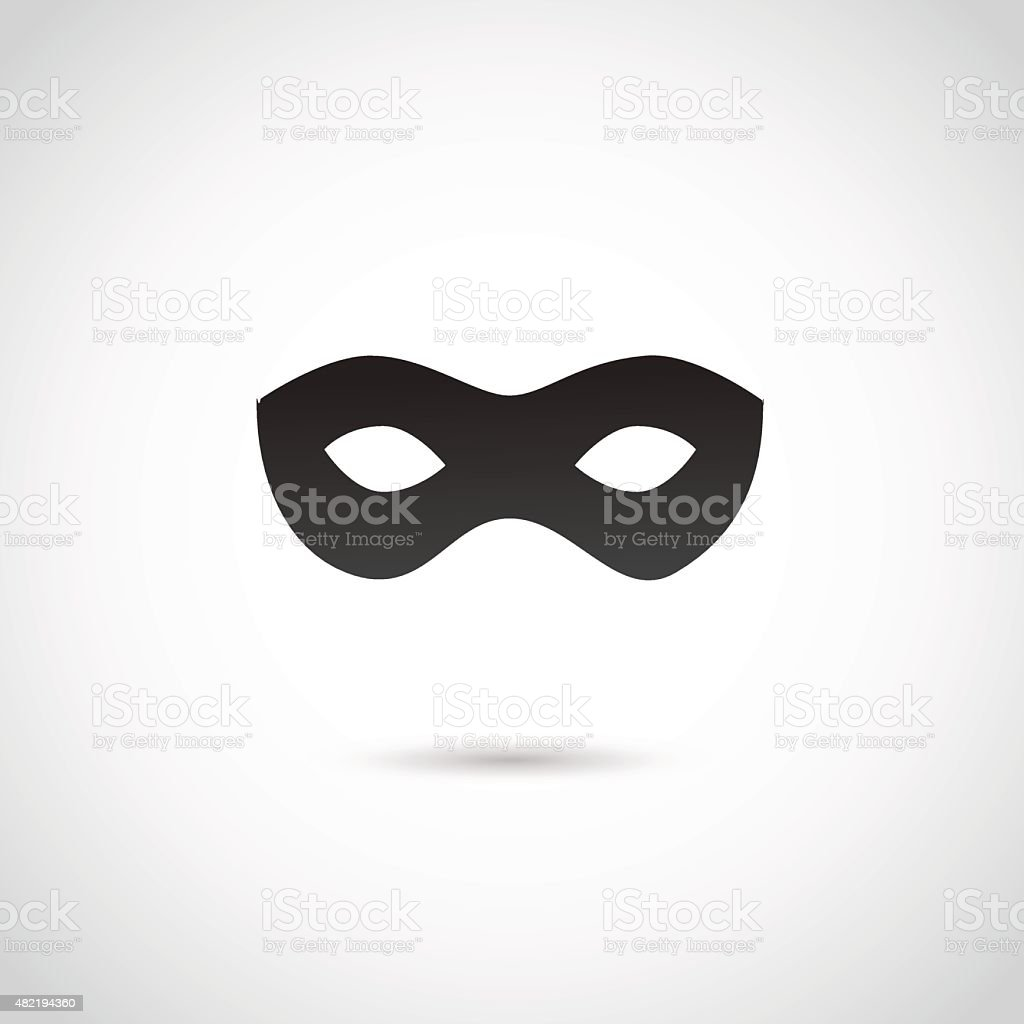 Party mask. vector art illustration