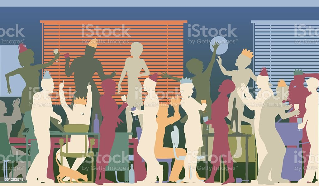 Party office vector art illustration