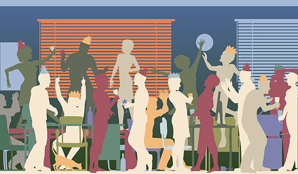 party office - office party stock illustrations, clip art, cartoons, & icons