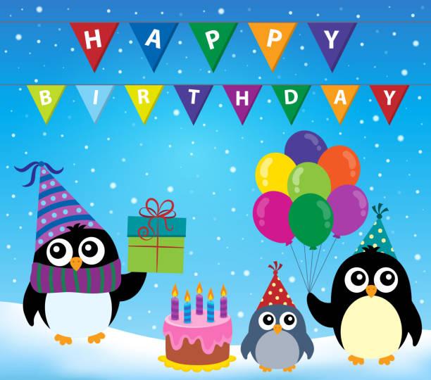 Best Happy Birthday Penguin Illustrations, Royalty-Free ...