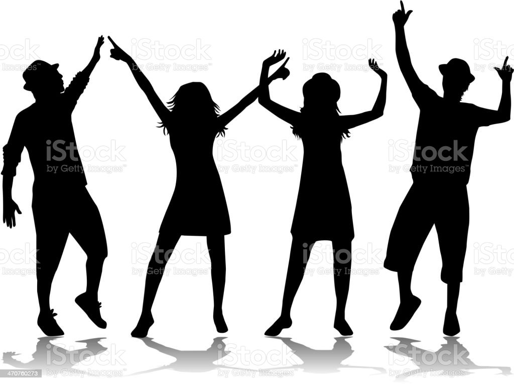 Party People Dancing royalty-free stock vector art