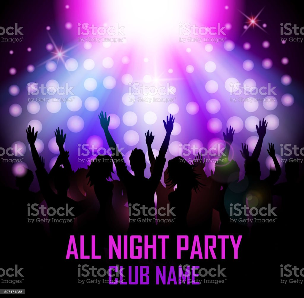 Party people in club