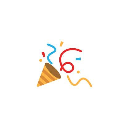 Party Popper icon. Vector flat design