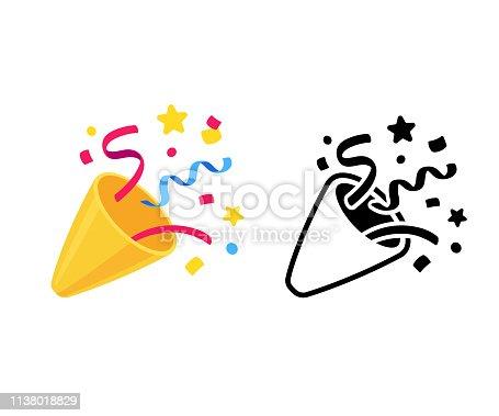 istock Party popper icon 1138018829