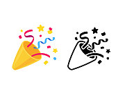 istock Party popper icon 1138018829