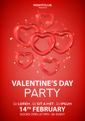 Party poster for Happy Valentine's Day