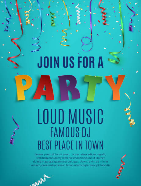 Party poster template. vector art illustration