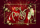 """Poster with lettering """"VIP PARTY"""""""