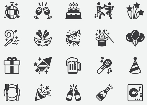 Party ,relationship, buddy, greeting, love ,Dance Pixel Perfect Icons