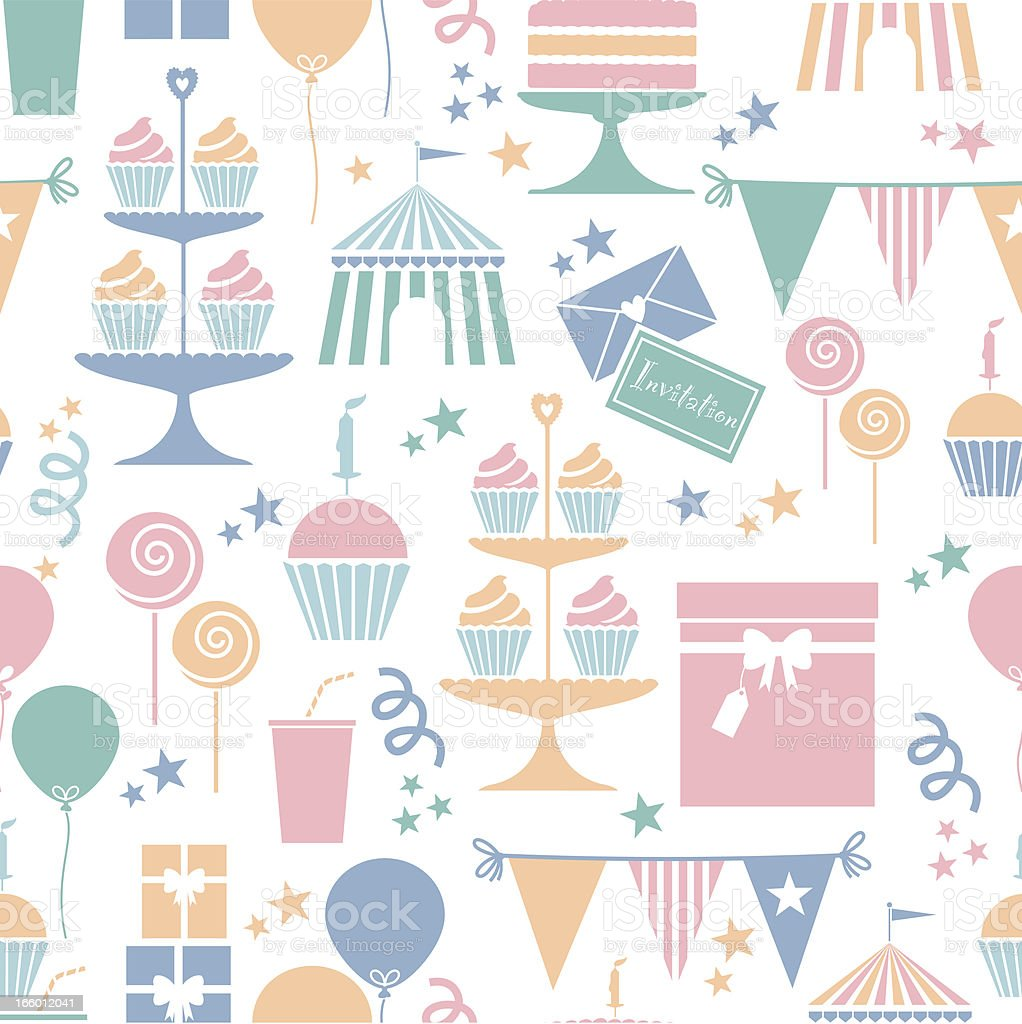 Party nachvollziehbare Muster – Vektorgrafik