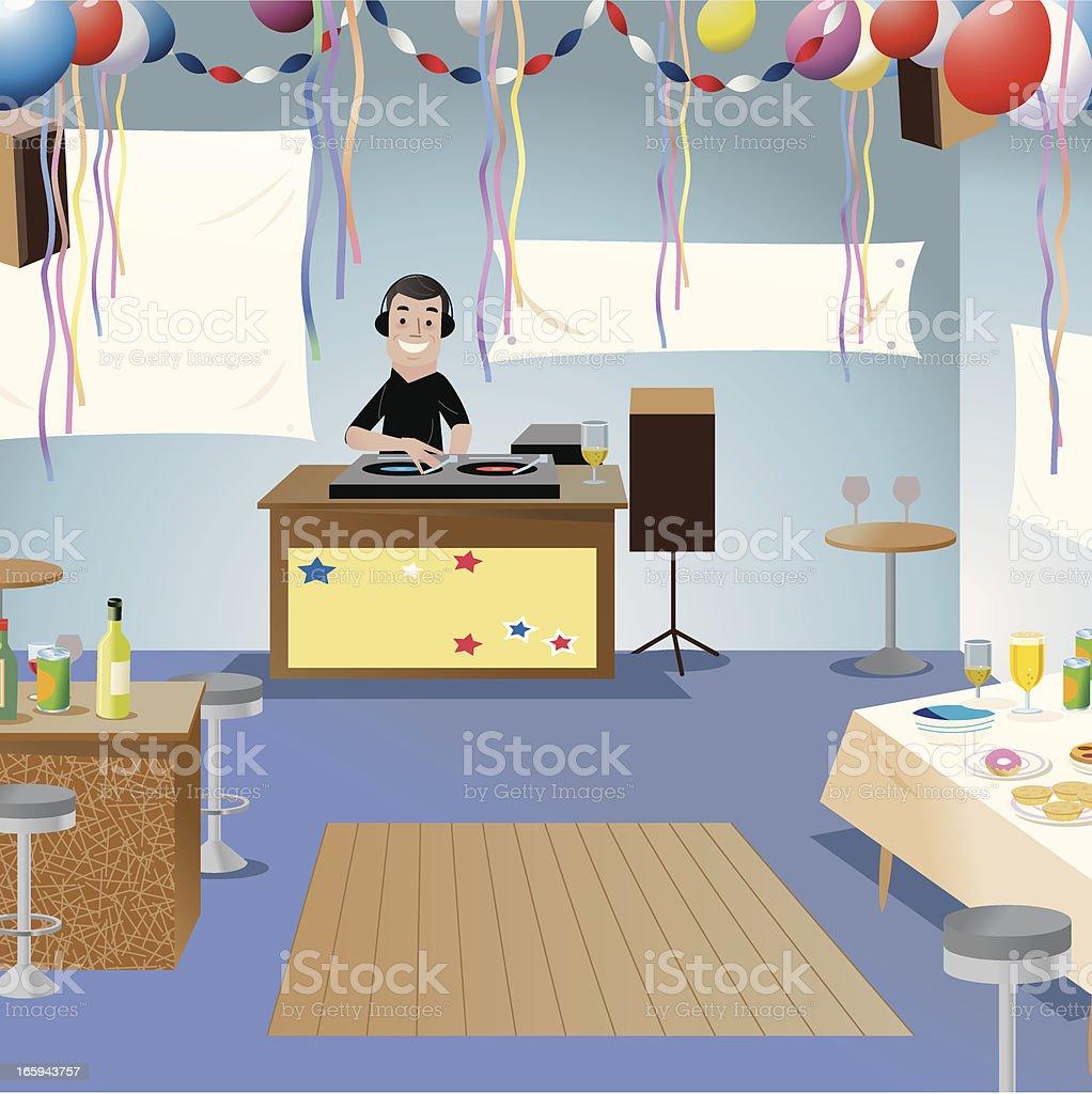 Party room vector art illustration