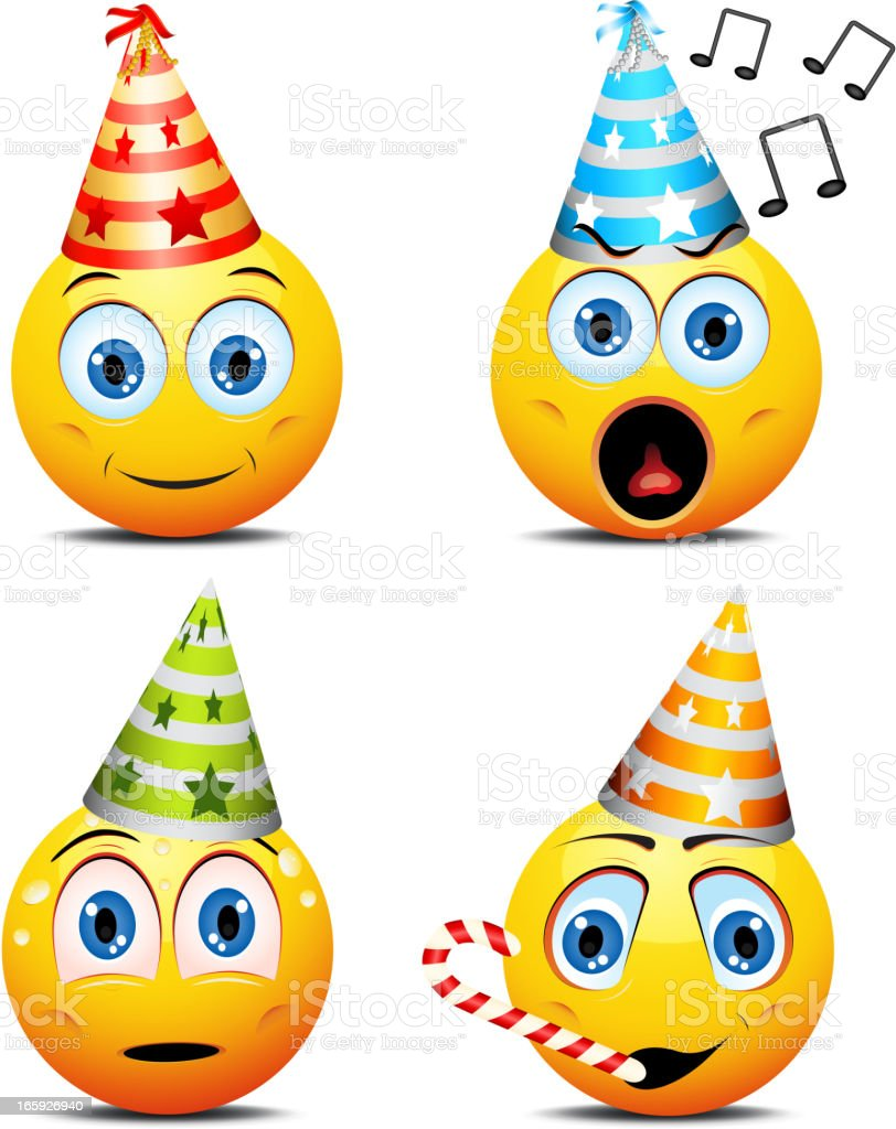 Party smiley faces royalty-free stock vector art