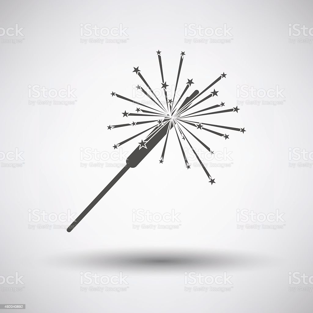 Party Sparkler Icon vector art illustration