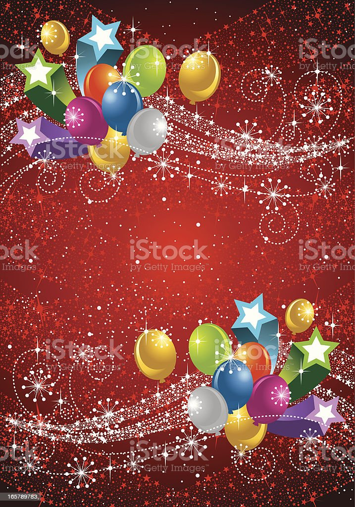 Party Star and Balloon Background royalty-free party star and balloon background stock vector art & more images of anniversary