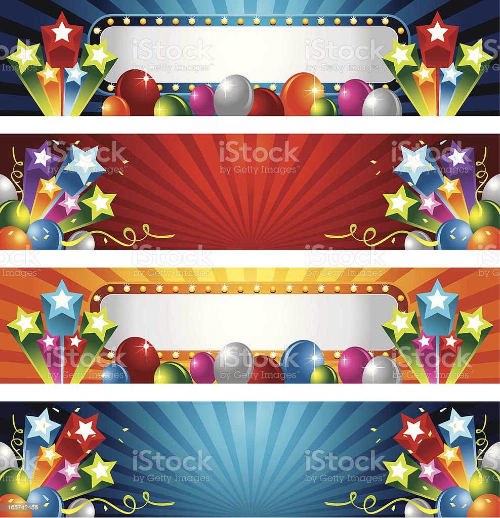 Party Star and Balloon royalty-free stock vector art