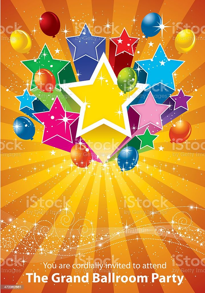 Party Star and Balloon royalty-free party star and balloon stock vector art & more images of anniversary