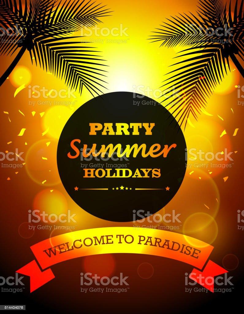 Party summer holidays vector art illustration