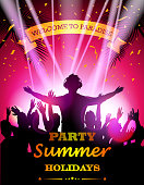 vector illustration of Party summer holidays