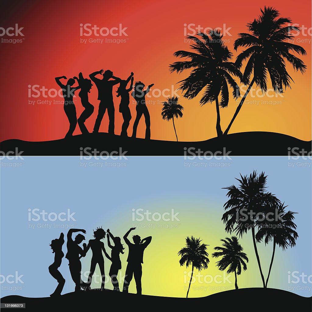 Party time at the beach! royalty-free stock vector art