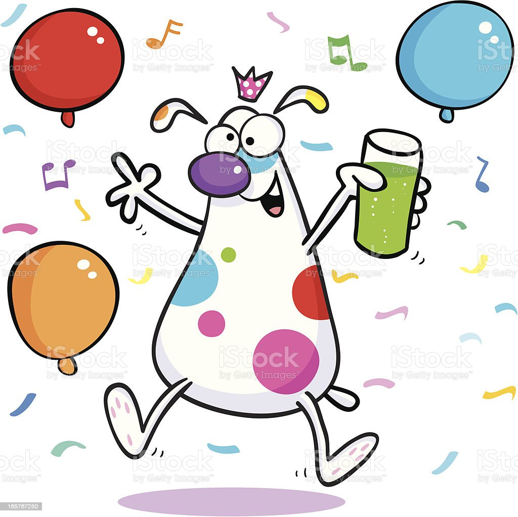 Party time Dog/Animal royalty-free stock vector art