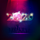 2020 happy new year in vivid style party theme for decoration