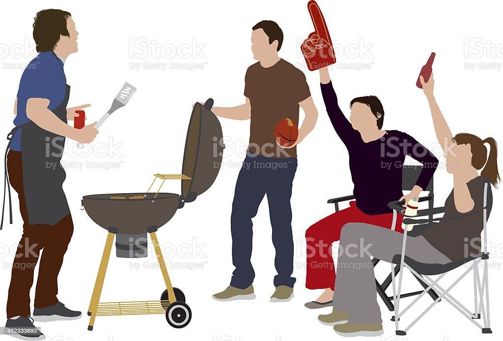 BBQ party vector art illustration