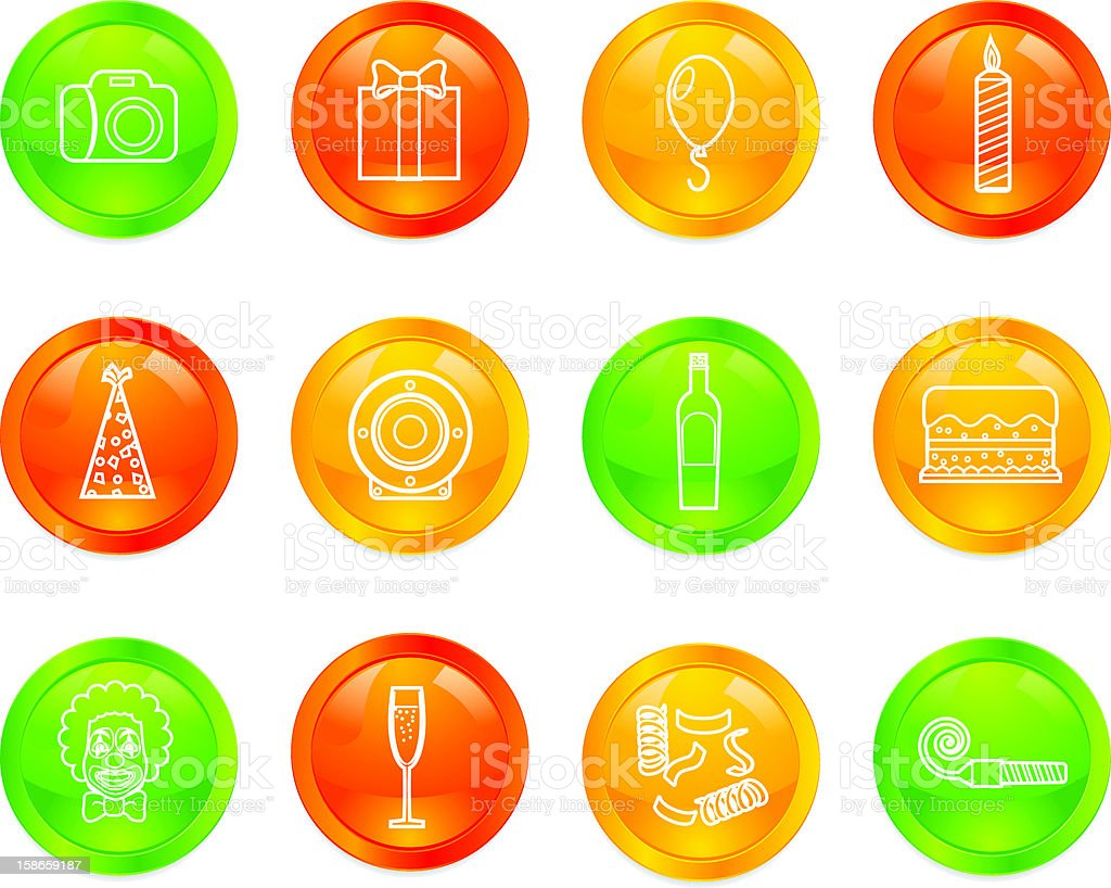 Party Web Buttons royalty-free stock vector art