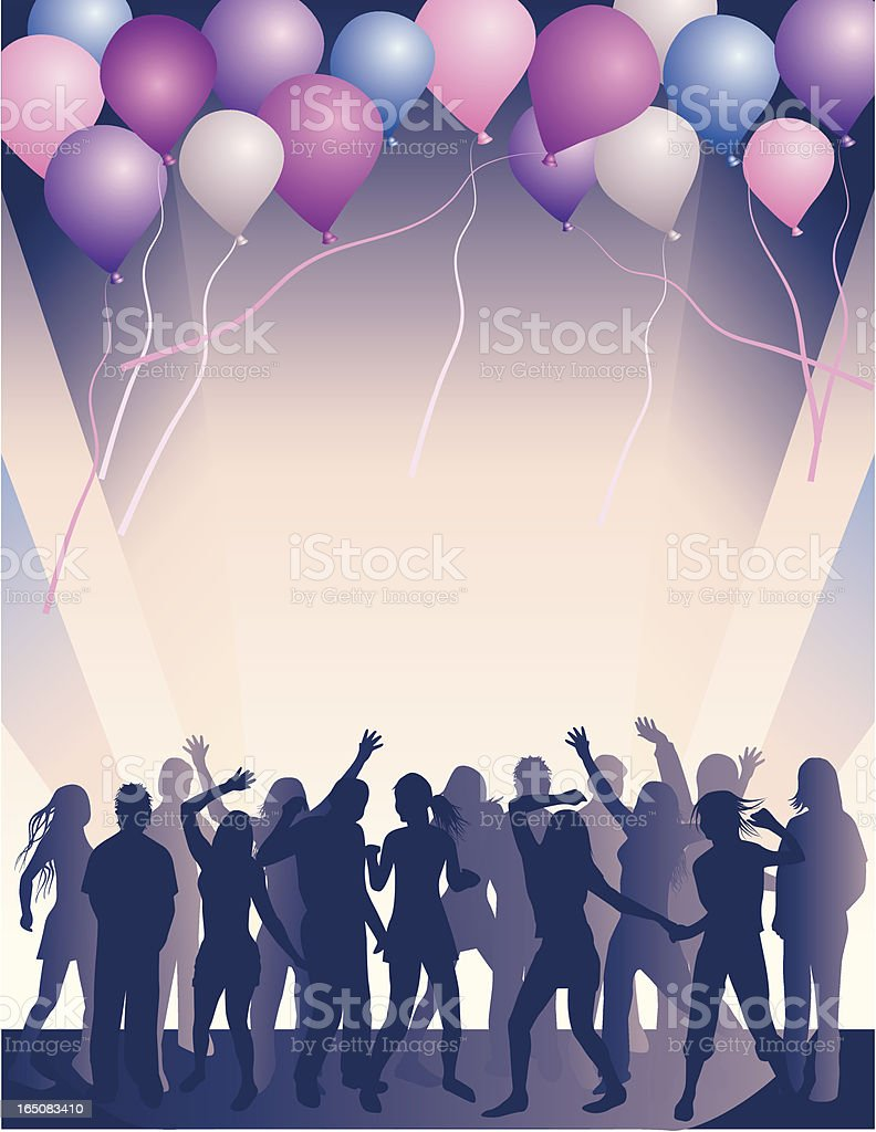 Party with balloons royalty-free stock vector art