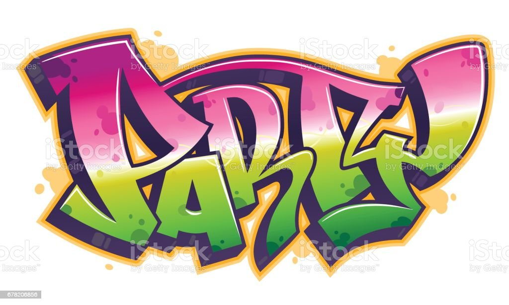 Party word in graffiti style vector art illustration