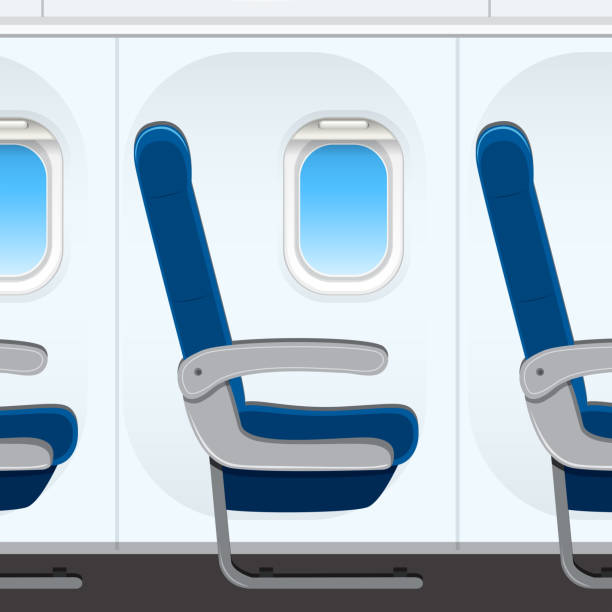 pasesnger airplane seat template - airplane seat stock illustrations