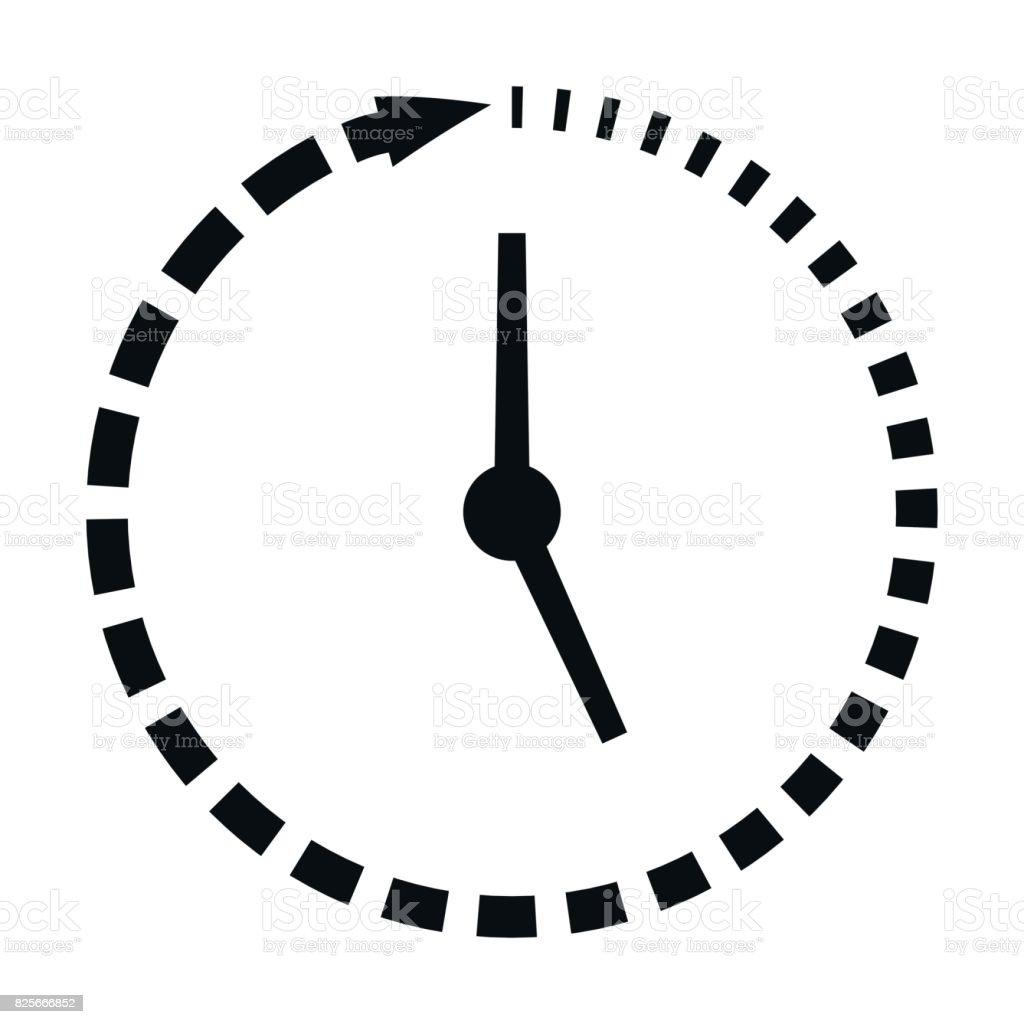 Laufe Der Zeit Icon Fehlende Uhrzeit Vektor Konzept Schnellen ...
