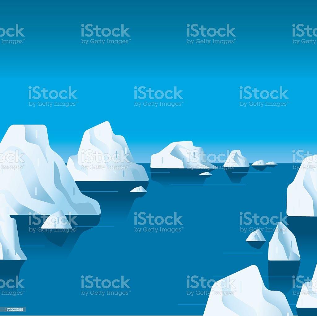 Passage through the ice vector art illustration