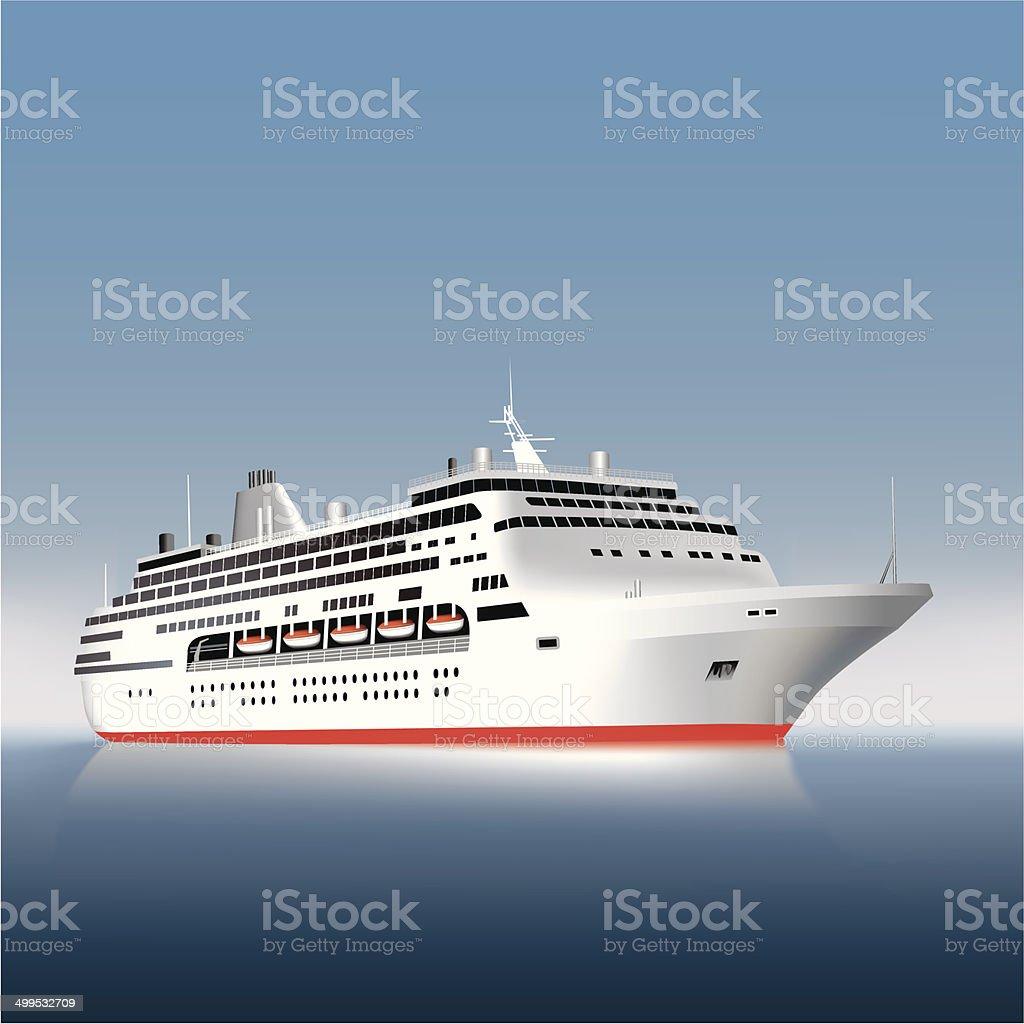 Passanger ship vector art illustration