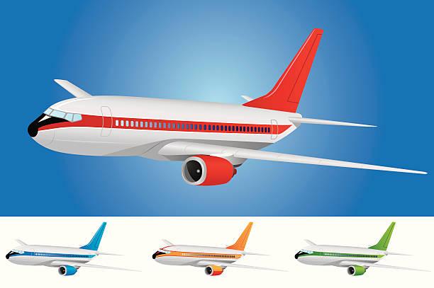 Passenger Airplane vector art illustration