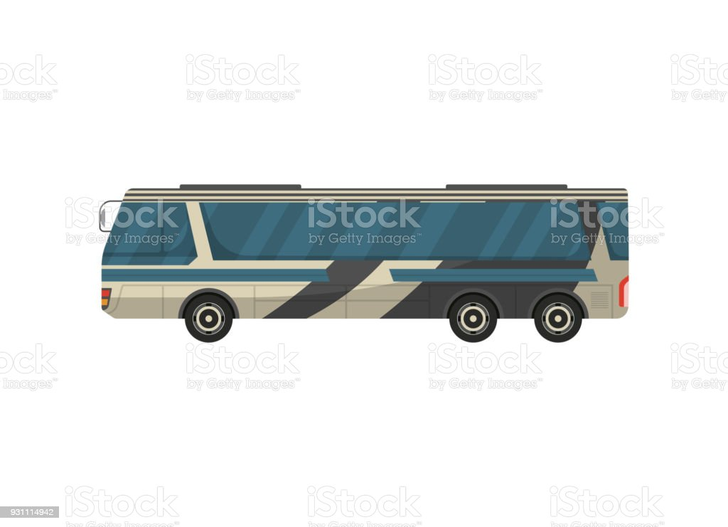 Yolcu Otobüsü izole vektör simgesi - Royalty-free Araba - Motorlu Taşıt Vector Art