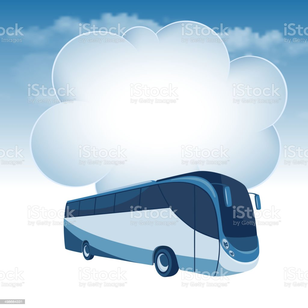 Passenger bus vector art illustration