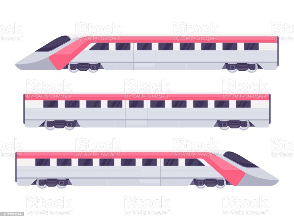 Passenger express train vector art illustration