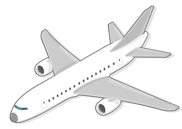 Passenger plane vector art illustration